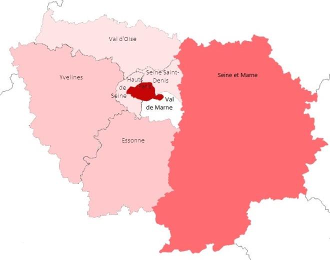 Carte d'Ile de France