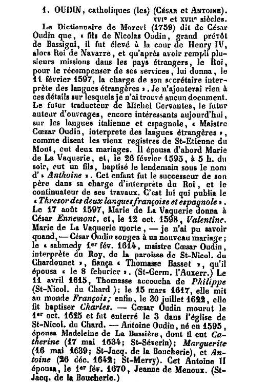 César et Antoine Oudin ( Jal )
