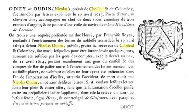 Nicolas Oudin noble