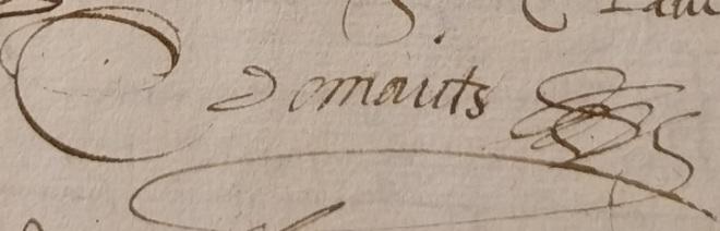Signature Claude du Maicts