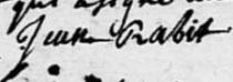 Signature Raby baptême 1727