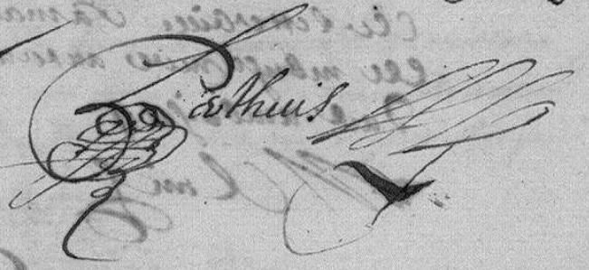 Claude Perthuis signature Amboise