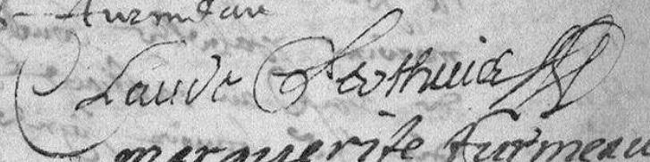 Claude Perthuis Amboise 1657 prénom et nom