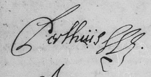 Claude Perthuis Boucherville 1689