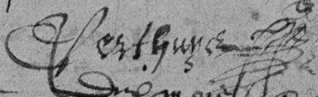 Claude Perthuys signature 1584